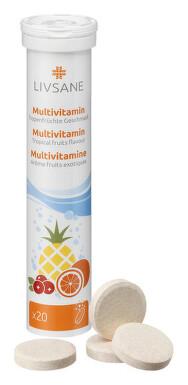 LIVSANE Multivitamín tropické ovocie tbl eff 20