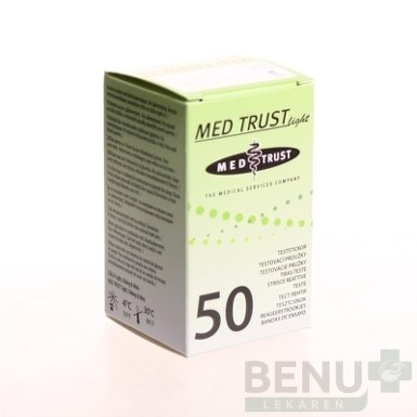 MED TRUST Light testovacie prúžky 1bal