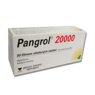 Pangrol 20 000 tbl flm 50x200mg
