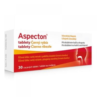 Aspecton tablety Čierne ríbezle 30ks