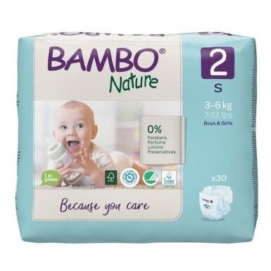 BAMBO 2 detské plienky priedušné 30 kusov