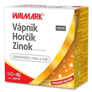 WALMARK Vápnik, horčik, zinok forte promo 2020 140 + 40 tabliet ZADARMO