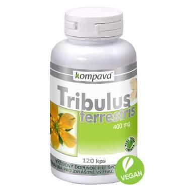 KOMPAVA Tribulus terrestris 400 mg 120 kapsúl