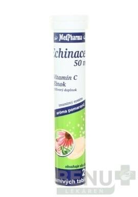 MedPharma ECHINACEA 50 mg + vitamín C + Zinok tbl eff 20 2