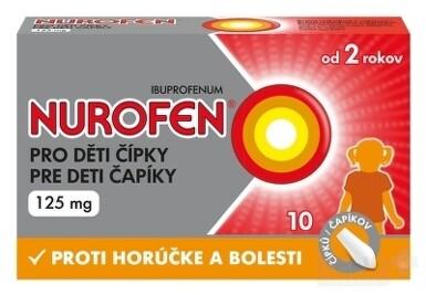 NUROFEN pre deti čapíky 125 mg sup 10x125mg