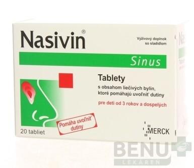 Mylan Pharmaceuticals Nasivin sinus 20 tbl. tbl 20