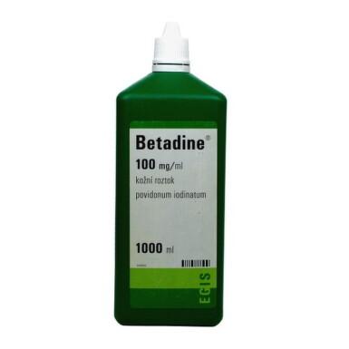 Betadine dezinfekčný roztok 100 mg/ml liq 1000ml