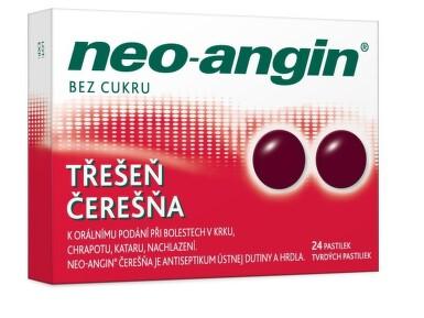 Neo-angin čerešňa tvrdé pastilky 1x24 ks pas ora 24ks