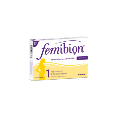 Femibion 1 Kyselina listová a METAFOLIN + vit. D3 30tbl tbl 30