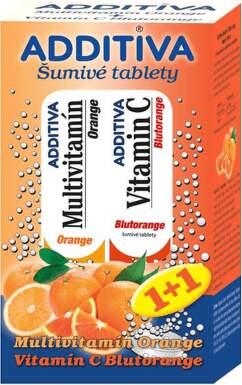 ADDITIVA Multivitamin Orange+ Blutorange tbl eff 20+20