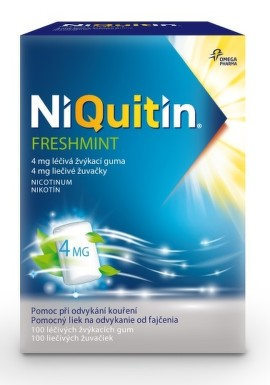 NiQuitin Freshmint 4 mg liečivé žuvačky 1x100 ks 100ks