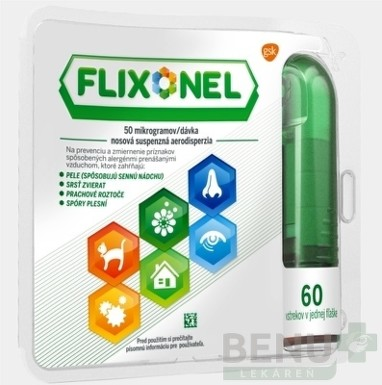 Flixonel 50 mikrogramov/dávka aer nau 1x60 davok