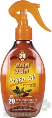SUN ARGAN OIL opaľovacie MLIEKO SPF 20 200ml