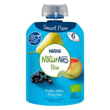 NESTLÉ Naturnes BIO hruška, jablko, čierne ríbezle 90 g