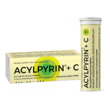 ACYLPYRIN + C 12 šumivých tabliet