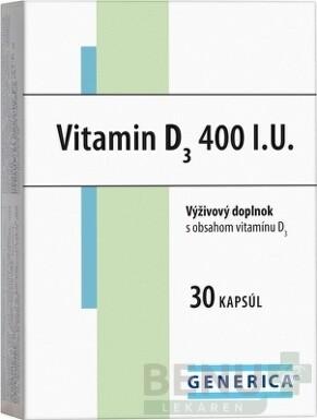 GENERICA Vitamin D3 400 I.U. cps 30