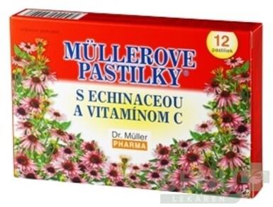 MÜLLEROVE PASTILKY S ECHINACEOU A VIT. C 12 ks 12ks