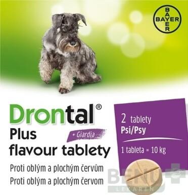 Drontal plus flavour tablety pre psy tbl 2