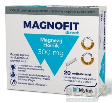 MAGNOFIT direct 300 mg 20 vrecusok