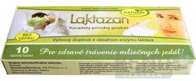Gelda Laktazan enzým laktáza s príchuťou mäty 10 ks tbl 10