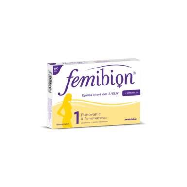 Femibion 1 Kyselina listová a METAFOLIN + vit. D3 60tbl tbl 60