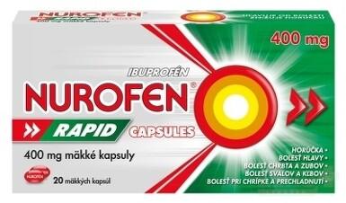 NUROFEN Rapid 400 mg Capsules 1x20 ks cps mol 20x400mg