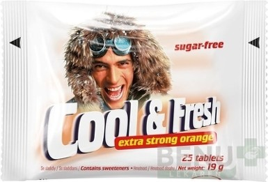 Cool & Fresh extra strong orange tbl 25