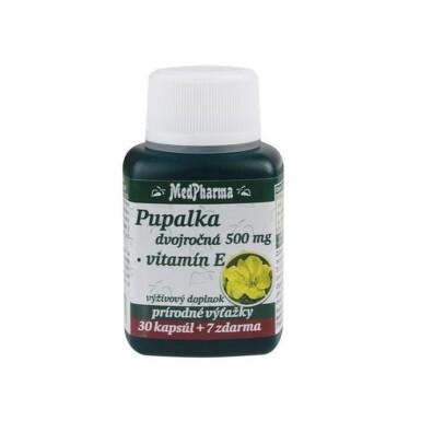 MEDPHARMA Pupalka dvojročná 500 mg s vitamínom E 30 tabliet +7 tabliet ZADARMO