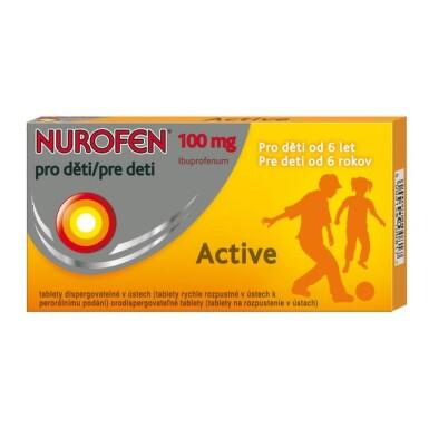 NUROFEN Active pre deti 100 mg 12 tabliet