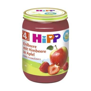 HiPP Príkrm BIO jablka s jahodami, malinami 190 g