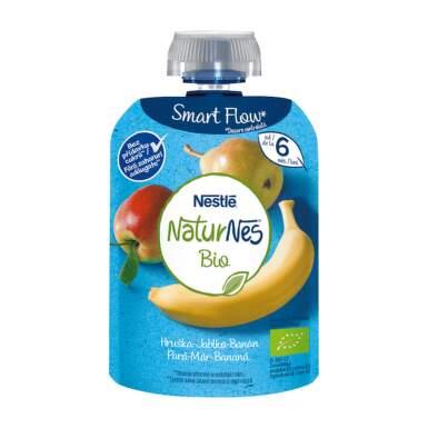 NESTLÉ Naturnes BIO hruška, jablko, banán 90 g