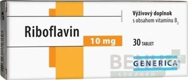 GENERICA Riboflavin 10 mg tbl 30