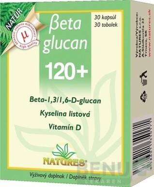 NATURES Betaglucan 120+ tbl 30