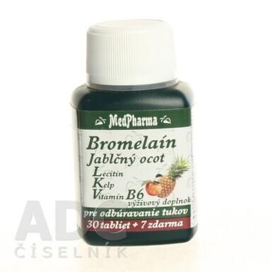 MedPharma BROMELAIN 300 mg + JABL.OCOT + LECITIN tbl 30+7 zdarma