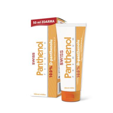 SWISS Panthenol PREMIUM 10% telové mlieko 200+50ml