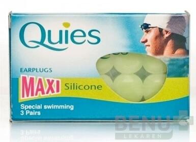 Quies Silikónové chrániče sluchu MAXI 3 pary