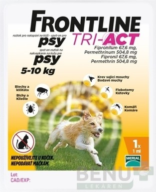 FRONTLINE TRI-ACT Spot-On pre psy S 1x1ml