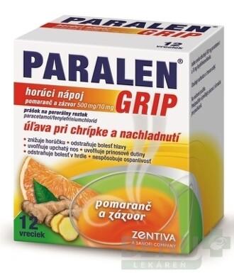 PARALEN GRIP horúci nápoj pomaranč a zázvor plo por 12vreciek