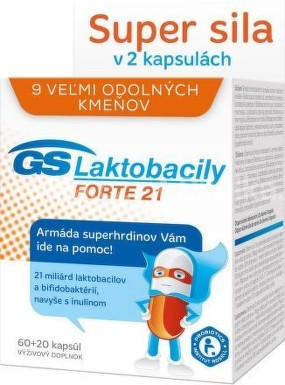 GS Laktobacily FORTE 21 (60+20 cps.) cps 60+20