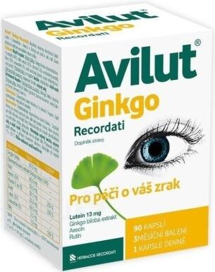 AVILUT Ginkgo Recordati cps 1x90 ks cps 90