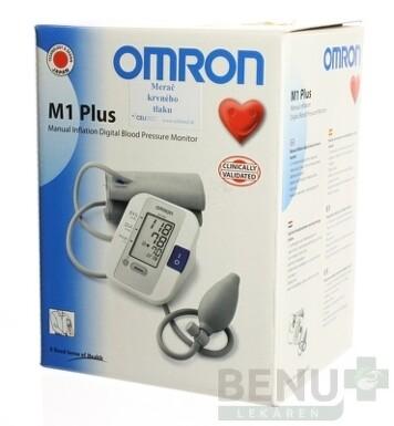 OMRON M1 Plus Digitálny TLAKOMER Poloautomatický 1ks