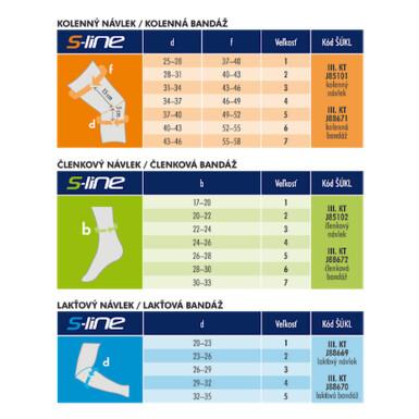 MAXIS S LINE kolenný návlek- veľkosť 5, telová 1ks 2