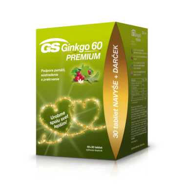 GS Ginkgo 60 Premium darček 2020 60 + 30 tabliet ZADARMO