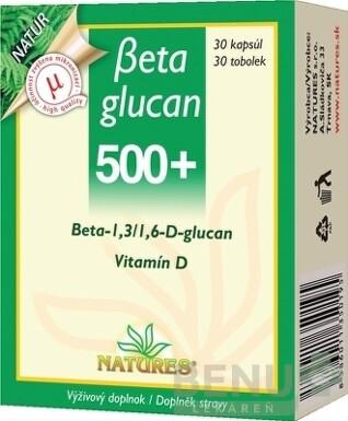 NATURES Betaglucan 500+ cps 30