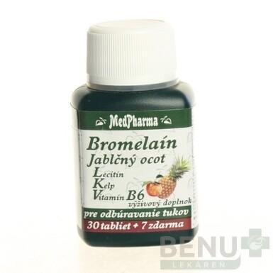 MedPharma BROMELAIN 300 mg + JABL.OCOT + LECITIN tbl 30+7 zdarma 2