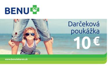 BENU Darčeková poukážka 10€ 1ks