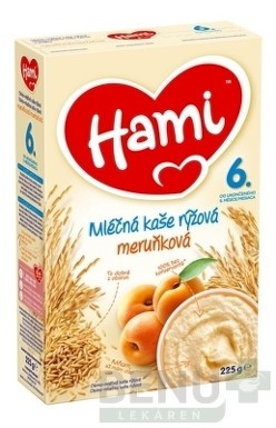 Hami mliečna kaša ryžová marhuľová 225g