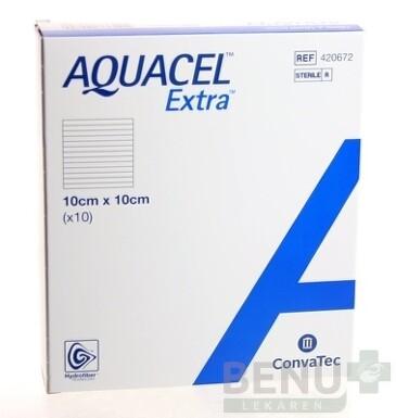 AQUACEL EXTRA Krytie na rany 10x10 cm, 1x10 ks 1x10ks