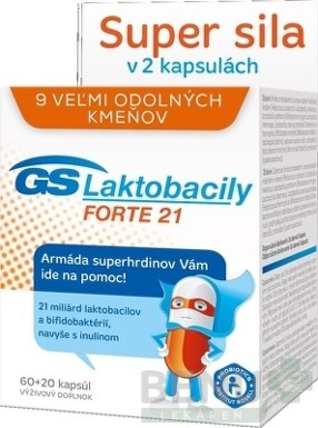 GS Laktobacily FORTE 21 (60+20 cps.) cps 60+20 2
