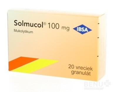 Solmucol 100 mg gra 20x1,5g/100mg (sac.) 2